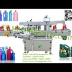 front and back sides labeling machine10L pail double sided label applicator mesin pelabelan otomatis