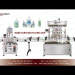 Inline filling systems for hand sanitizer gel|paste piston filler and pump capping machines