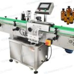 high precision single wrap around labeler for round bottle sticker adhesive label applicator