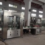 Automatic 4 nozzles filling rotary capping labeling machine linear liquid paste filling product line