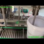 Automatic 5 gallon oil pail weighing scales machine 2 heads 20L liquid bottling equipment