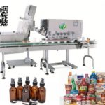 Automatic high speed inline spindle capper machine iron lid capper equipment with conveyor belt