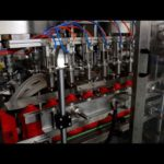 Auto ketchup filling line 1L bottle washing 6 nozzles linear filler capping induction sealer machine