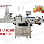 cup labeling machine with dropping system