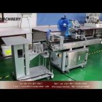 Top labeling machine for plastic bag box cover|YQ machinery flat surface label applicators