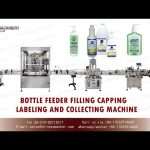 Automatic bottle filling capping and labeling machine |100-1000ml hand sanitizer gel filling line