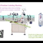 water bottle two sides labeling machine for india client adhesive labeller máquina etiquetadora