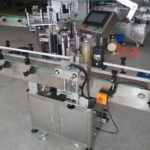 champagne bottle two sided labeling machine for round wine bottles sticker adhesive label applicator