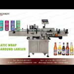 wrap around label applicator for round container adhesive labeler machine