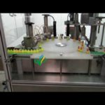 Automatic vial filling line E juice bottle unscrambler filler stopering screw capping machine
