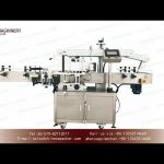 clear label sticker labeling machines for square bottle|YQ machinery one label for 2 sides labeller