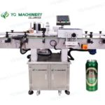 Tin can labeling machine for beer cans adhesive sticker label applicators