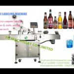 Automatic flat surface labeling machine for glass wine bottle QR Code labeler
