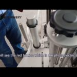 Step 1 how to adjust round pet glass bottle sticker labeling machine for different sizes