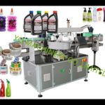 Automatic two side labeling machine for glue bottle sticker adhesive labeler