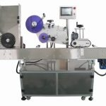Automatic adhesive labeling machine with date printing system for round bottles labeller