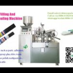 super glue full automatic filling and lid pressing machines video with cap and bottle feeding system