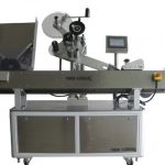 horizontal sticker labelling machine for vials with feeding system automatic label applicator