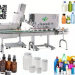 Online type screw capping machine for round plastic bottle linear capper equipment