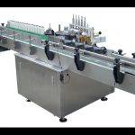 Cans vertical wrap-around paste labeling machine with feeder automatic wet gule label applicator