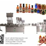 100-1000ml liquid bottle filler 4 heads  servo filling and rotary screw capping machine for paste