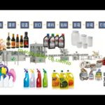 high speed bottle sorting inline cap tightening induction sealing labeling machines supplier