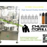 high speed chubby gorilla bottle filling capping machine manufacturers E liquid bottle tightener