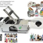 manual label applicator system with coding machine semi automatic labeler supplier