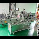 glass wine beer bottles labeling machine three sides label applicator machinery manufacturers