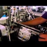 How to adjust bottle filling plugging and cap screwing machine video
