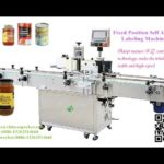 Automatic fix postioned labeling machine for glass jar two sides label applicators price