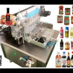 round cans cold glue labeling machine testing video for danile automatic wet glue label applicator