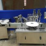 E juice bottle feeding rotary filling plugging and capping machine for 10ml vials production line