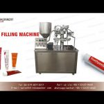 Semi-automatic tube filling and sealing machine for Aluminum tubes rotary filler and sealer
