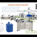 Automatic plastic jerry can sticker labeling machines factory two sided label applicator device