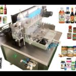 round jar paste labeling machine testing video for india client glass iron glass tin bottle labeler