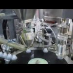Auto 200g bottle unsrambler filling capping machine with  auger filler system relleno de barrena