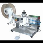 semi-automatic plane Labeling Machinery top side labeler machines manual label applicator supplier
