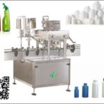 In-line screw capping machine with cap feeder for bottles linear capper máquina que capsula lineal