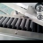 Horizontal round bottle labeling machine with collecting part clip thin long tube label applicator