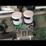 top surface labeler and round bottle labeling machine for round jar plane label application system