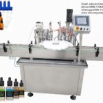 Essential oil filling stoppering and capping all in one system for liquid bottling machine