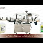 30L jerry can labelling machine|YQ machinery double sided self adhesive labeller video