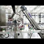 Liquid soap filling, capping, labeling filling line, high automation filling line (TOM PACK)
