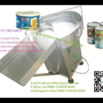 304 Stainless Steel  Bottle Unscrambler Turntable For Metal Cans Tins Feeder Testing Video