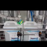 5L lube oil bottle two sided labeling 8 heads piston filler scew capping induction sealer system