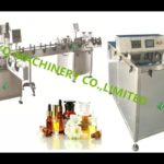 essential oils bottle table rotary piston filler cap sealing and label application machine