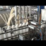 Linear type bottle feeding filling rotary capping equipment with cap sorting system piston filler