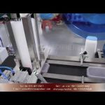 lid labeling machine with feeding counting systems|top label applicator for plastic cover