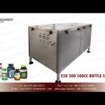 Automatic pet bottle unscrambler system for  250 300 and 500CC round bottles|rotary bottle sorter